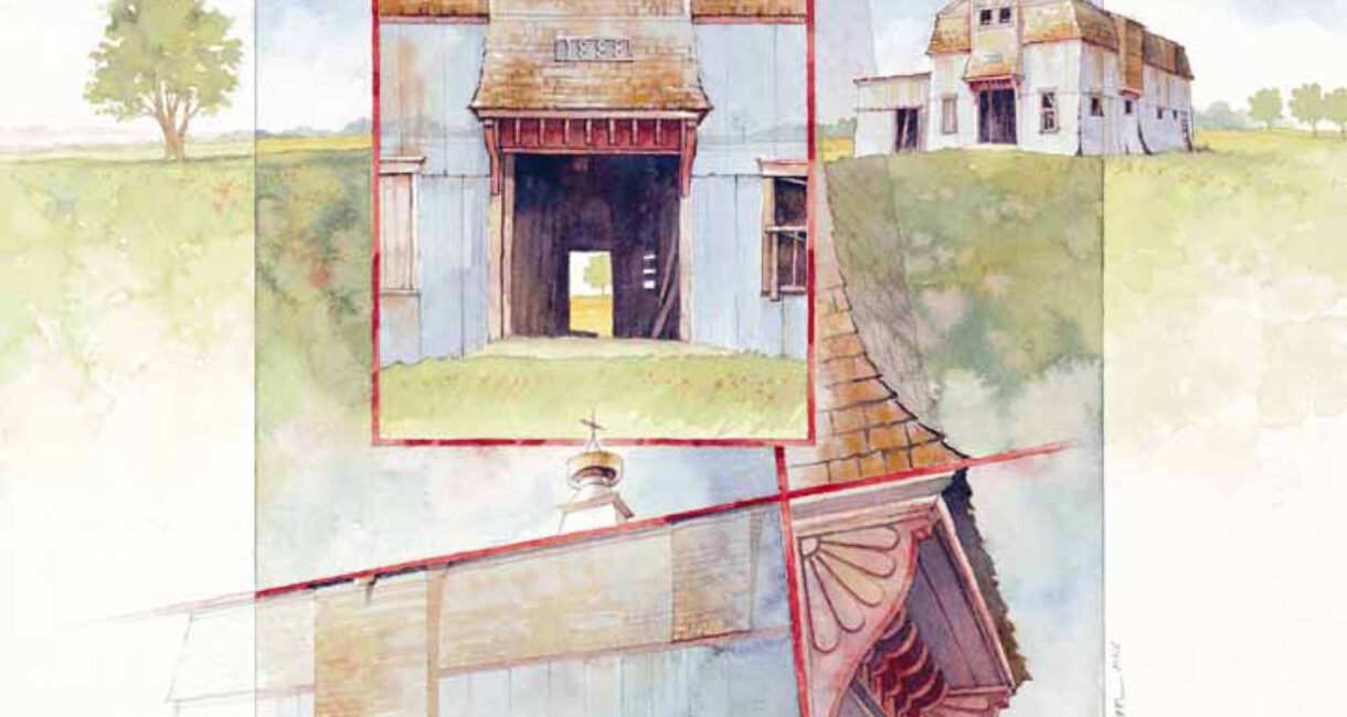 """1888 Barn,"" by Marian Henjum (2000 Annual Report Cover)"