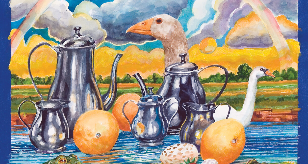 """Arrowhead Park Tea Party"" by Carl Grupp (2006 Annual Report Cover)"