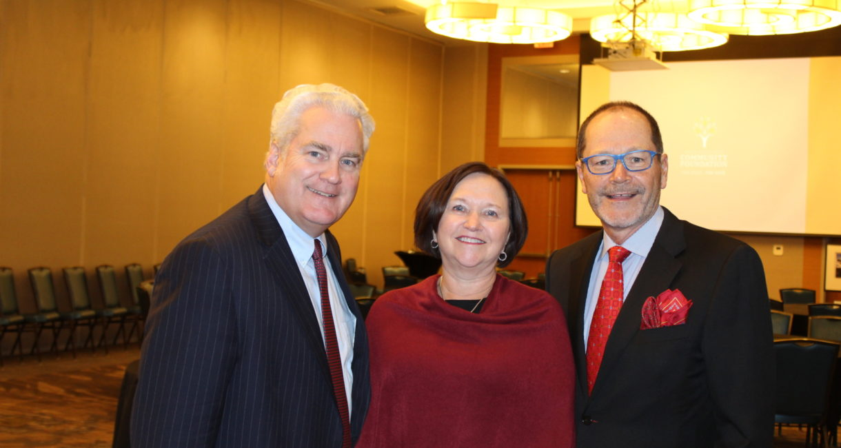 Scott Christensen, chair of the board for the Sioux Falls Area Community Foundation, with our 2019 Friend of the Foundation honorees, Bill and Lorrae Lindquist.