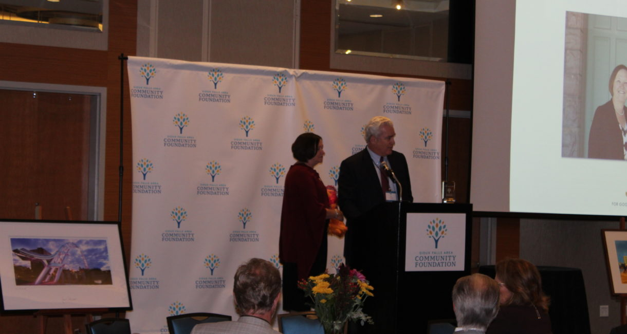 Bill and Lorrae Lindquist shared their thoughts on philanthropy and community after receiving the 2019 Friend of the Foundation award.
