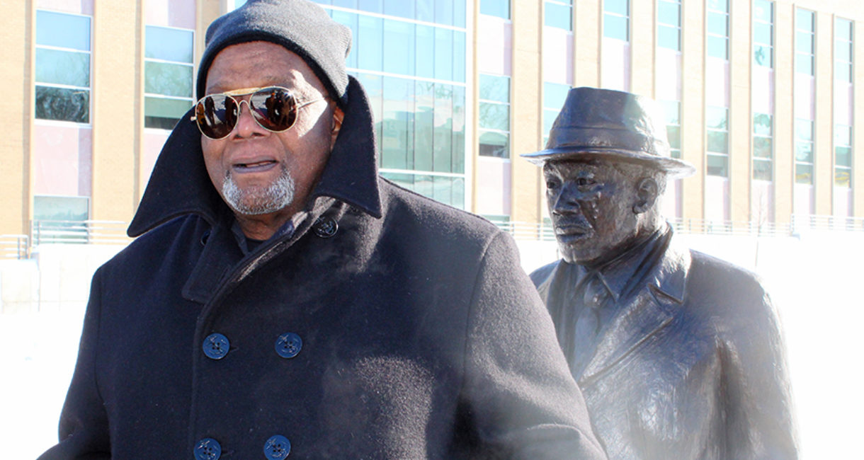 Porter Williams, the artist behind the Martin Luther King Jr. statue, discusses his work following the dedication.