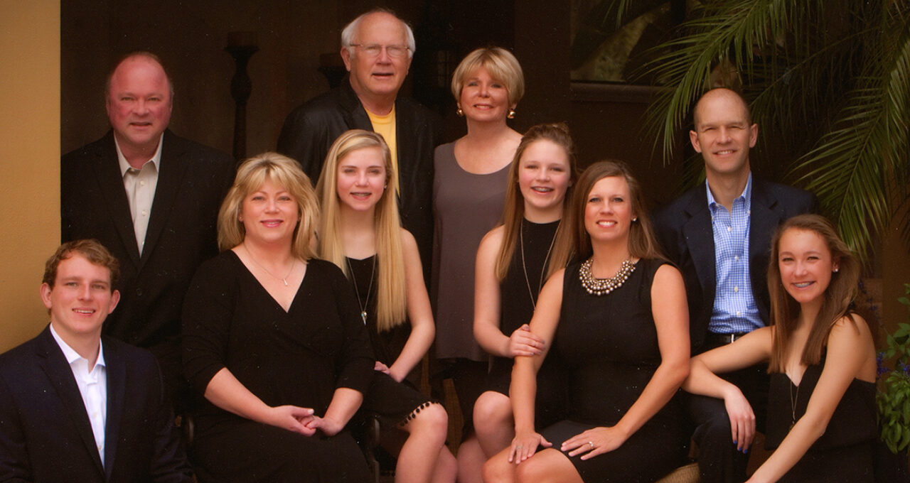 Garry and Dianne Jacobson and their family.