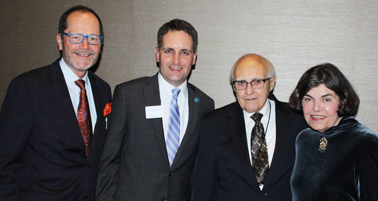 From left to right, Board Chair Scott Christensen, Foundation President Andy Patterson, Howard Paulson and Candy Hanson, former Community Foundation president, at the 2019 Legacy Celebration.