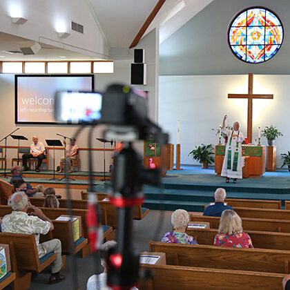 Grace Lutheran Church uses technology to broadcast worship services