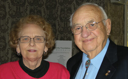 Rodora and  Roy Nyberg at a Foundation event in 2009.