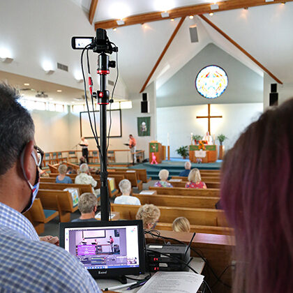 Media ministry efforts broadcast worship services at Grace Lutheran Church in Sioux Falls