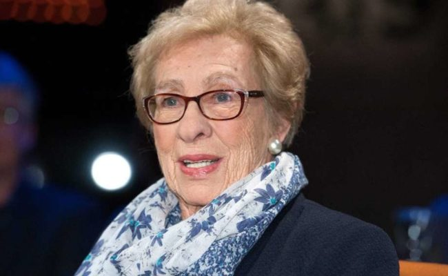 Eva Schloss, the stepsister of Anne Frank.