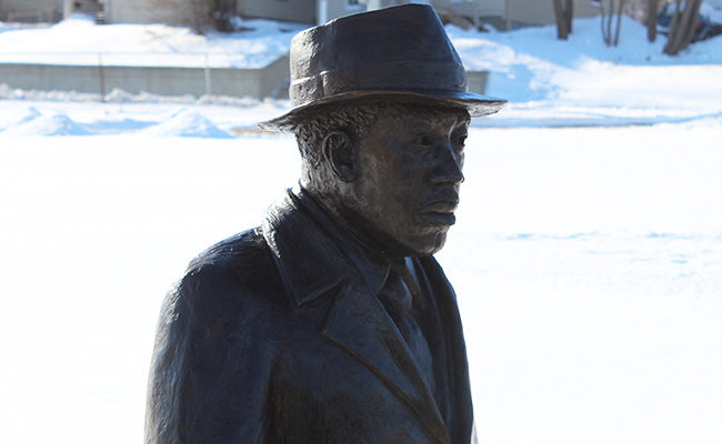 The sculpture of Dr. Martin Luther King Jr. in Sioux Falls