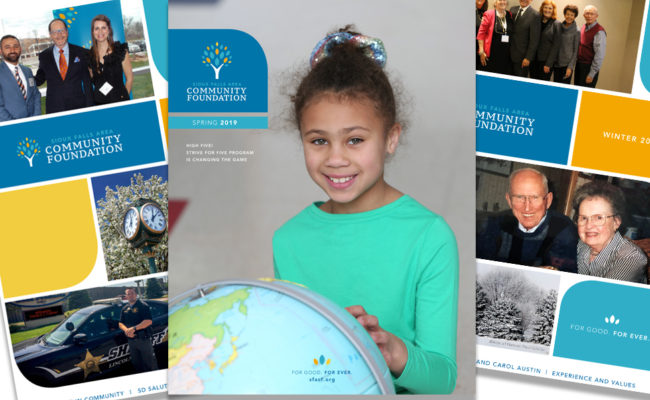 The spring 2019 issue of the Sioux Falls Area Community Foundation's newsletter.