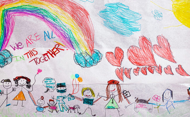 Artwork created by Molly, Jaxon and Ella Peterson for the #SFStayAtHomeArt challenge.