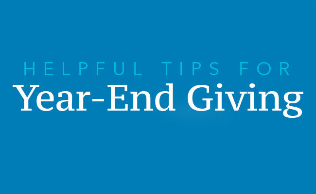 tips for year-end giving